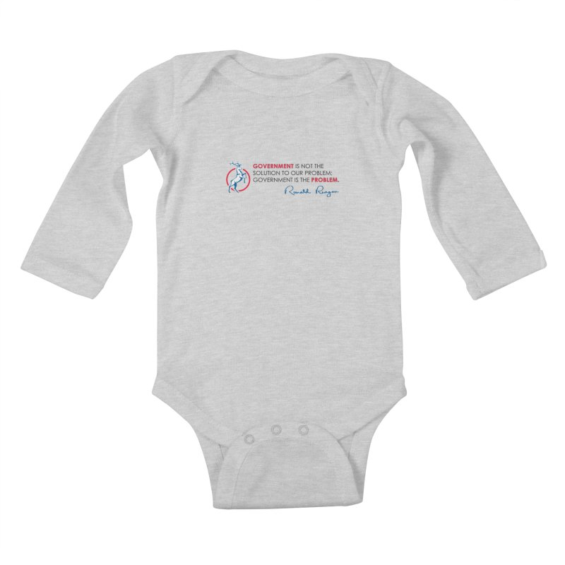 Government Solution Kids Baby Longsleeve Bodysuit by Freedom Gear