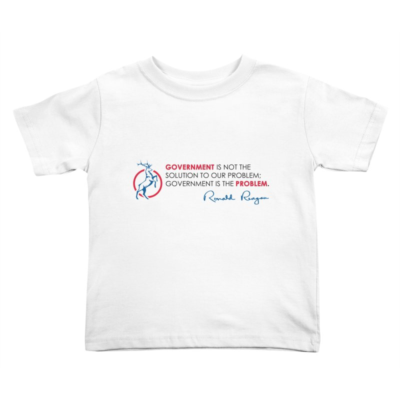 Government Solution Kids Toddler T-Shirt by Freedom Gear