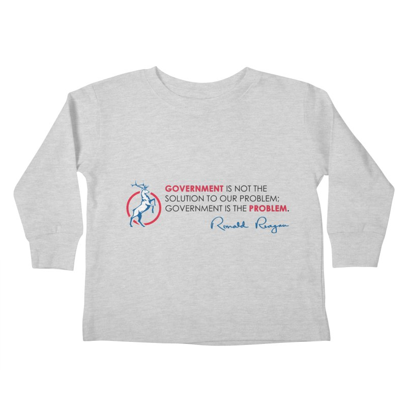 Government Solution Kids Toddler Longsleeve T-Shirt by Freedom Gear