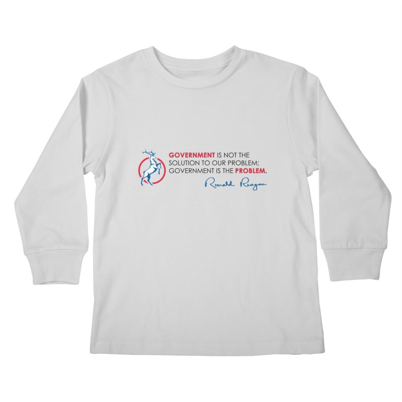 Government Solution Kids Longsleeve T-Shirt by Freedom Gear