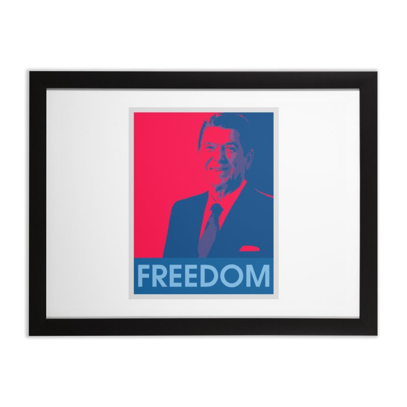 Freedom Reagan Home Framed Fine Art Print by Freedom Gear