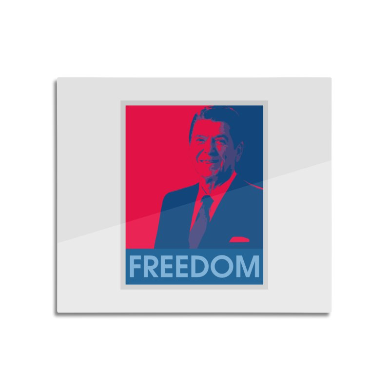 Freedom Reagan Home Mounted Aluminum Print by Freedom Gear
