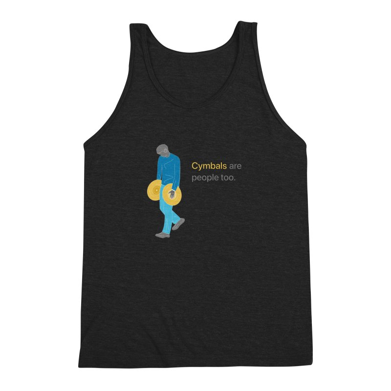 Cymbals are People Too Men's Tank by Freedom Percussion Shop