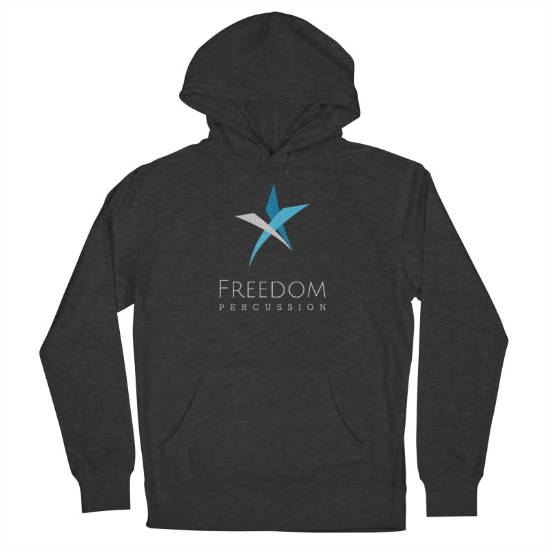 Freedom Logo in Men's French Terry Pullover Hoody Smoke by Freedom Percussion Shop
