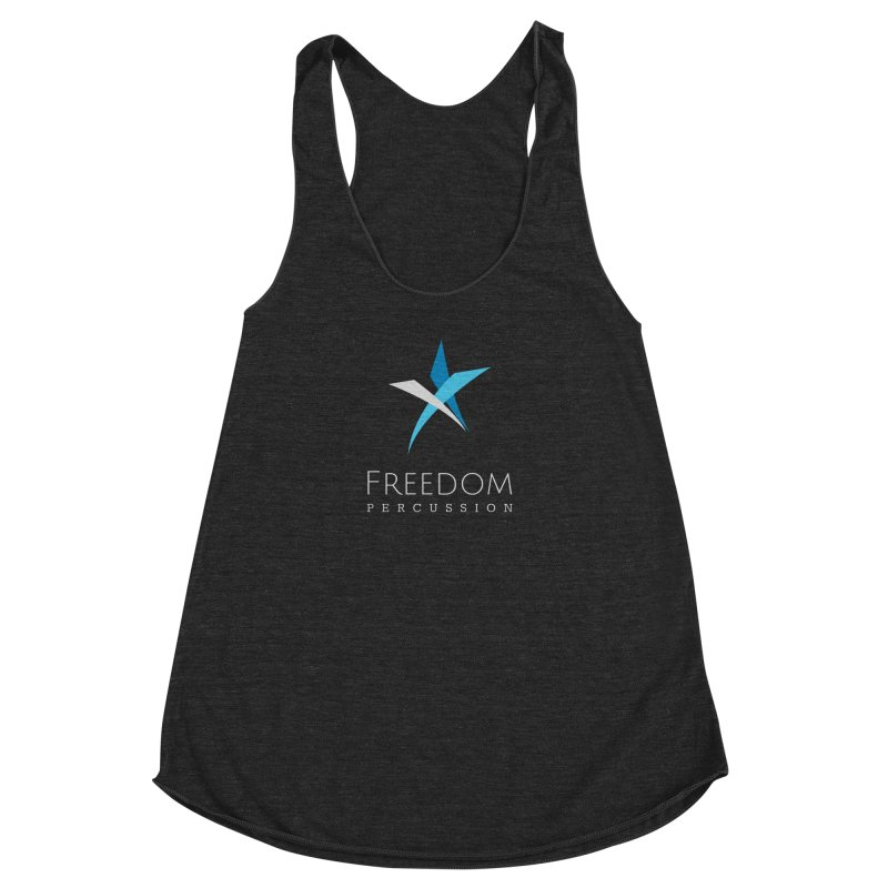 Freedom Logo Women's Racerback Triblend Tank by Freedom Percussion Shop
