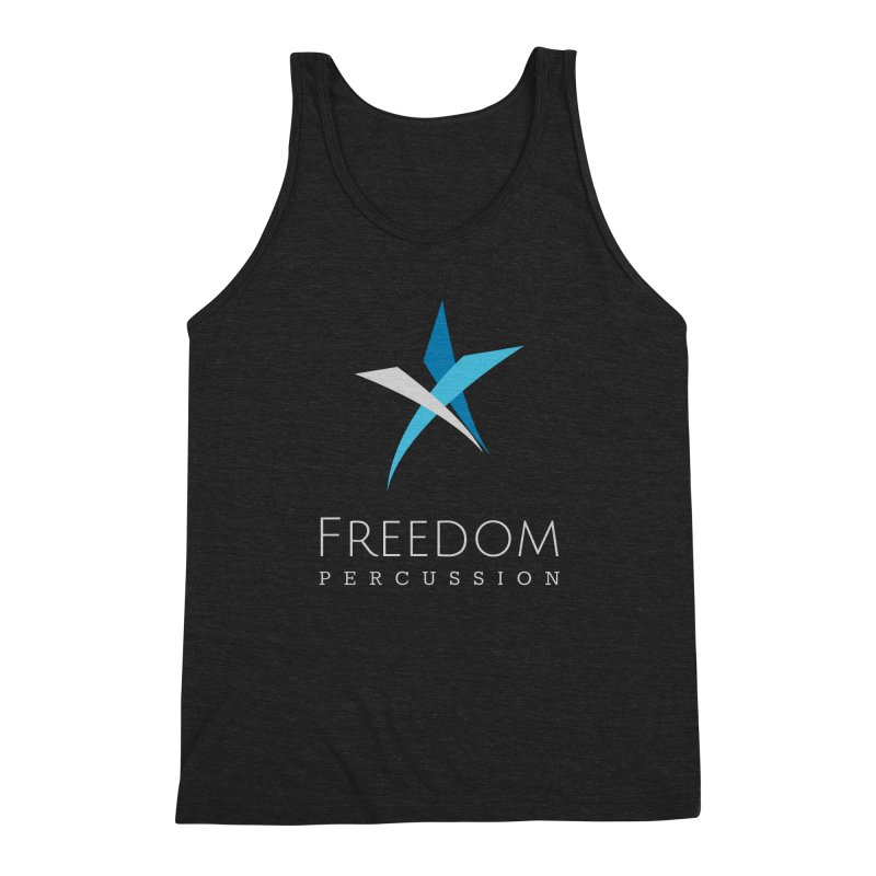 Freedom Logo Men's Triblend Tank by Freedom Percussion Shop