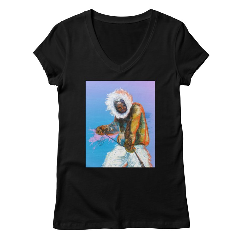 Matthew Henson Polar Explorer Women's V-Neck by In this great future, you can't forget your past.