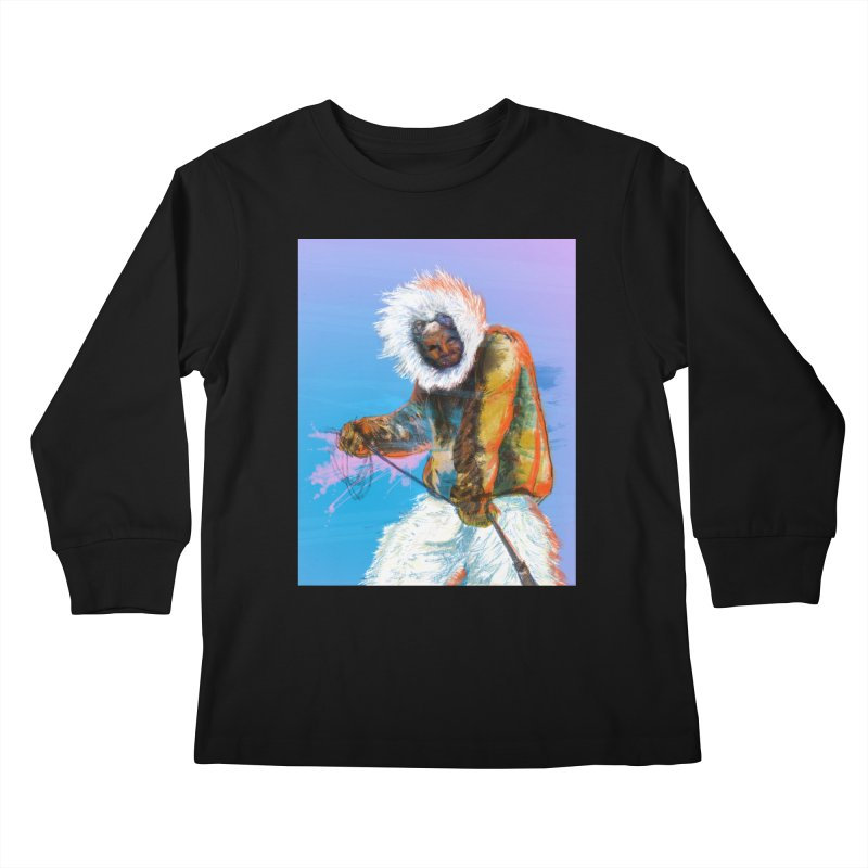 Matthew Henson Polar Explorer Kids Longsleeve T-Shirt by In this great future, you can't forget your past.