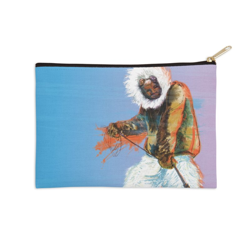 Matthew Henson Polar Explorer Accessories Zip Pouch by In this great future, you can't forget your past.