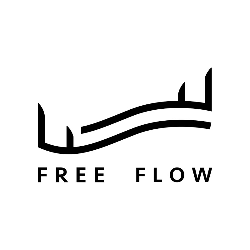 Free Flow Clean Black Women's Scoop Neck by Free Flow - Freediving related designs