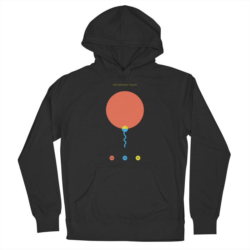 Self Explanation Diagram Men's French Terry Pullover Hoody by Freehand