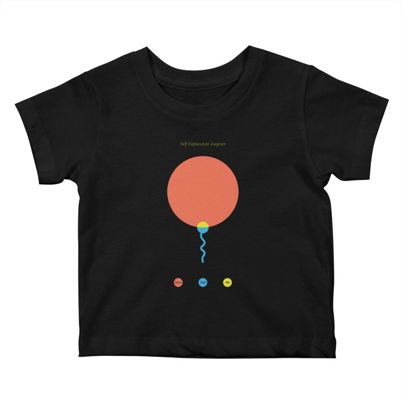 Self Explanation Diagram Kids Baby T-Shirt by Freehand