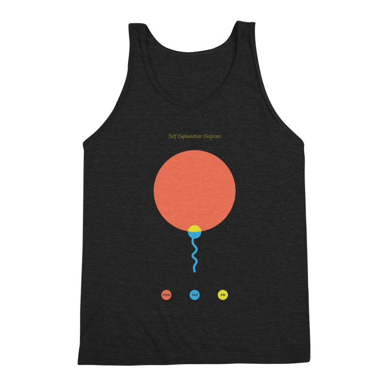 Self Explanation Diagram Men's Triblend Tank by Freehand