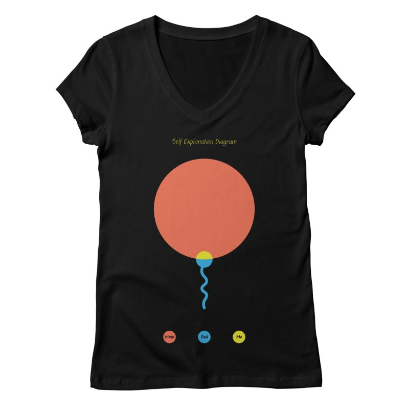 Self Explanation Diagram Women's Regular V-Neck by Freehand