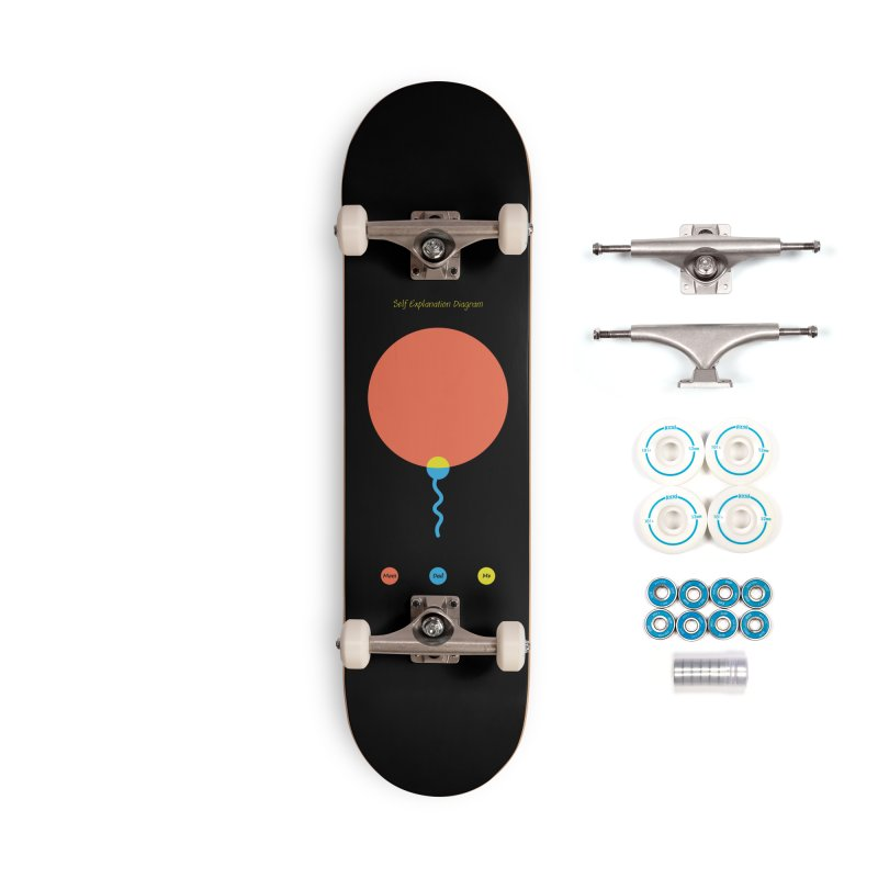Self Explanation Diagram Accessories Skateboard by Freehand