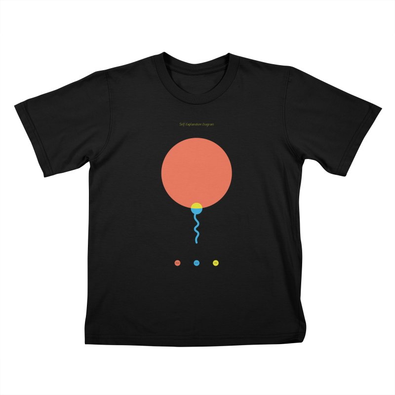 Self Explanation Diagram Kids T-Shirt by Freehand