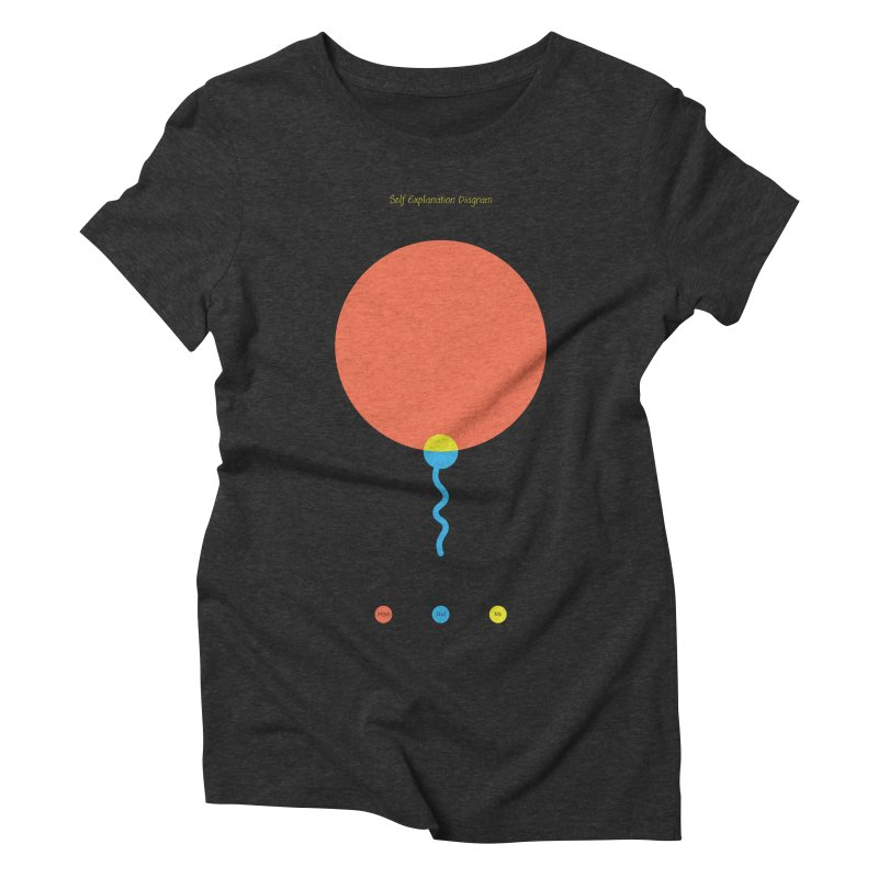 Self Explanation Diagram Women's Triblend T-Shirt by Freehand