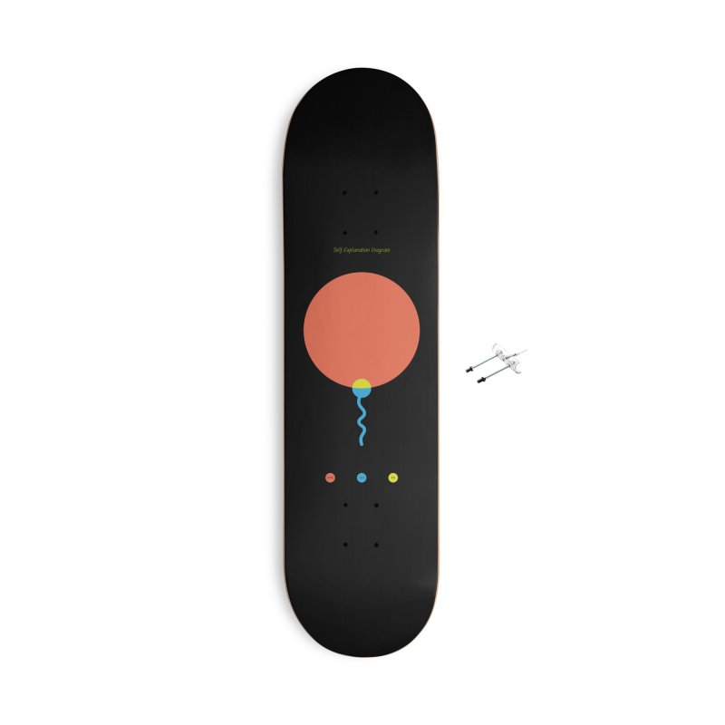 Self Explanation Diagram Accessories With Hanging Hardware Skateboard by Freehand
