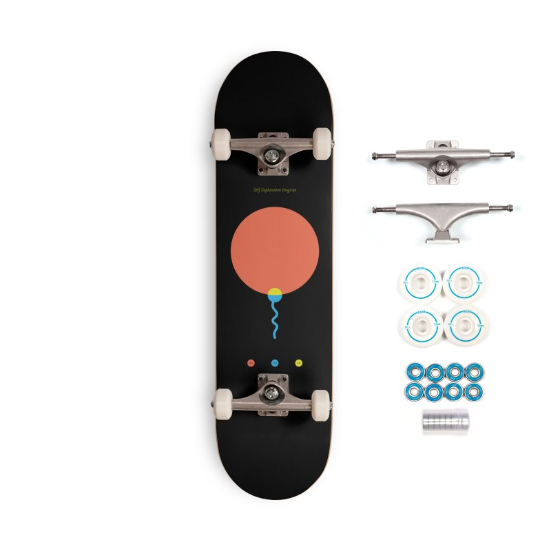 Self Explanation Diagram Accessories Complete - Basic Skateboard by Freehand