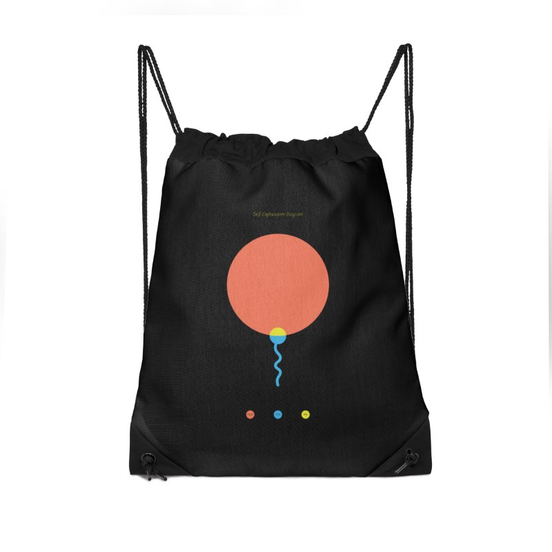 Self Explanation Diagram Accessories Drawstring Bag Bag by Freehand