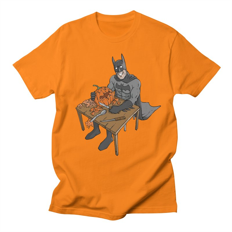 Pumpkin Signal Lamp in Men's Regular T-Shirt Orange by Freehand
