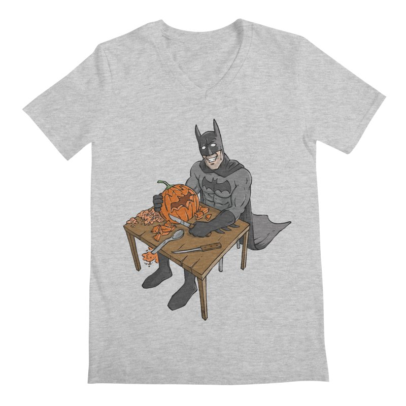 Pumpkin Signal Lamp Men's V-Neck by Freehand