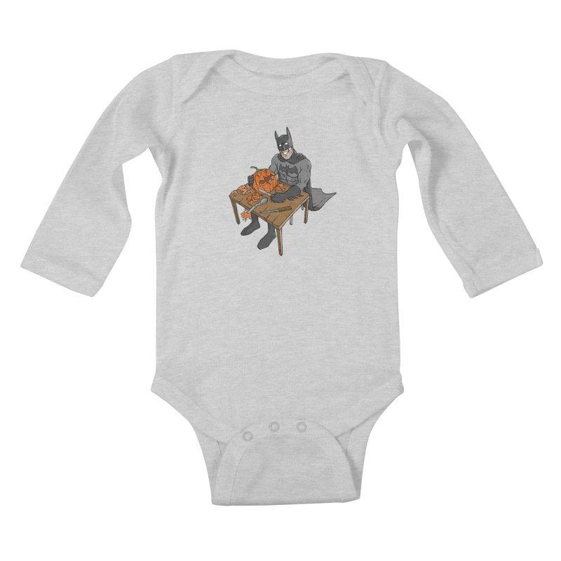 Pumpkin Signal Lamp Kids Baby Longsleeve Bodysuit by Freehand