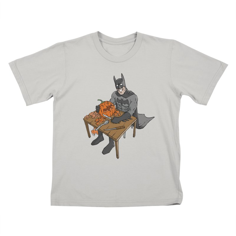 Pumpkin Signal Lamp Kids T-Shirt by Freehand