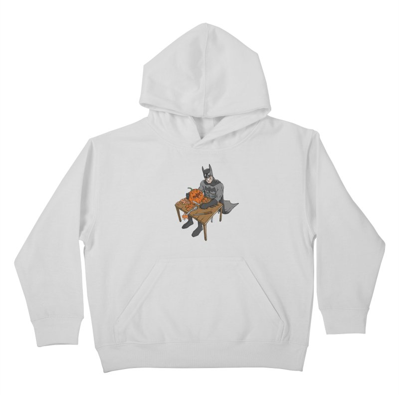 Pumpkin Signal Lamp Kids Pullover Hoody by Freehand