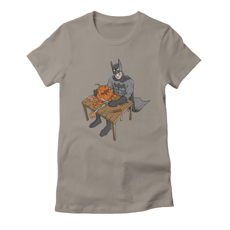 Pumpkin Signal Lamp Women's Fitted T-Shirt by Freehand