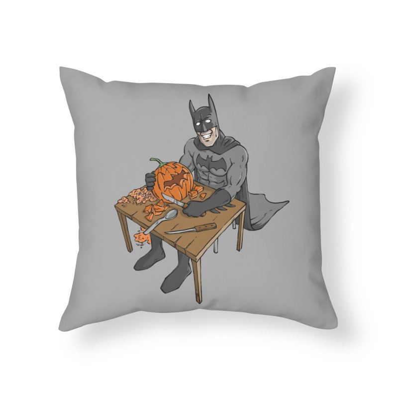 Pumpkin Signal Lamp Home Throw Pillow by Freehand