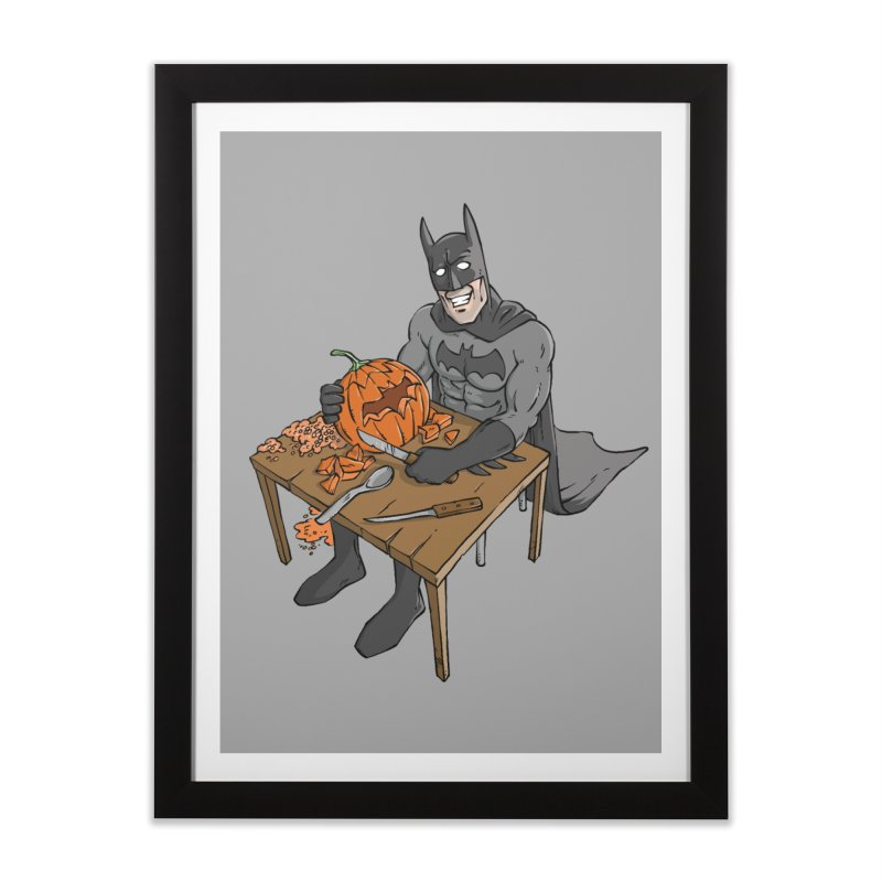 Pumpkin Signal Lamp Home Framed Fine Art Print by Freehand