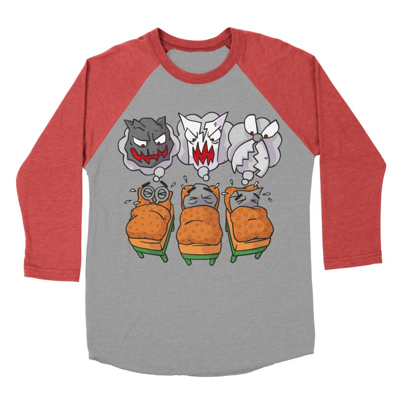 Scary Nights Men's Baseball Triblend Longsleeve T-Shirt by Freehand