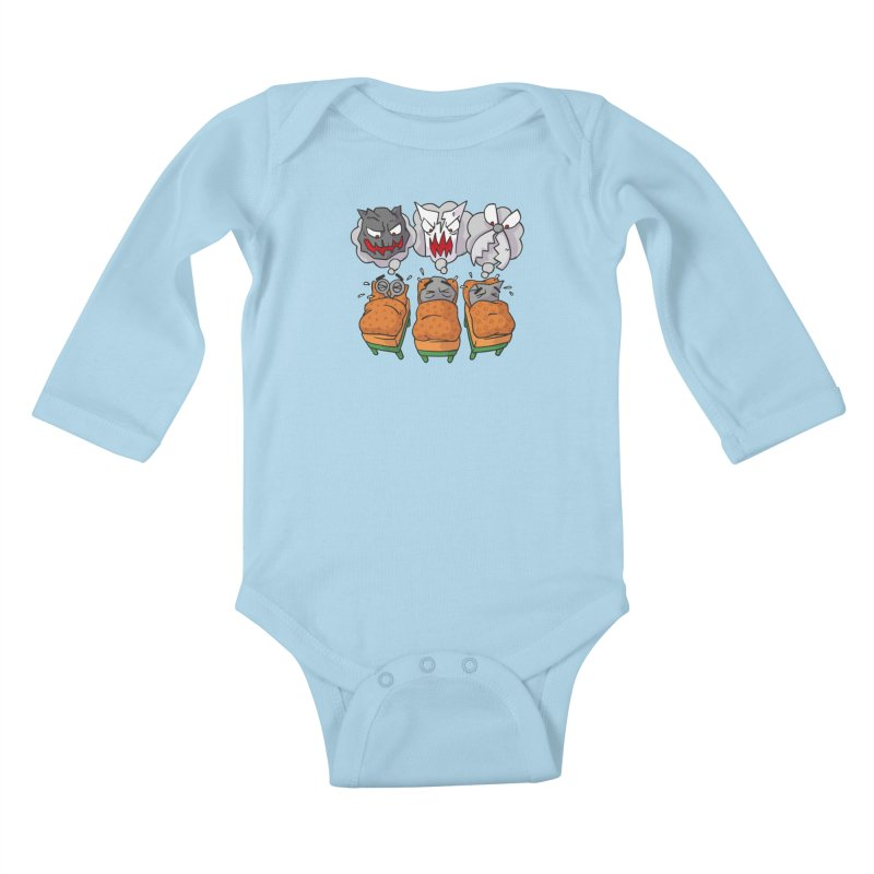 Scary Nights Kids Baby Longsleeve Bodysuit by Freehand