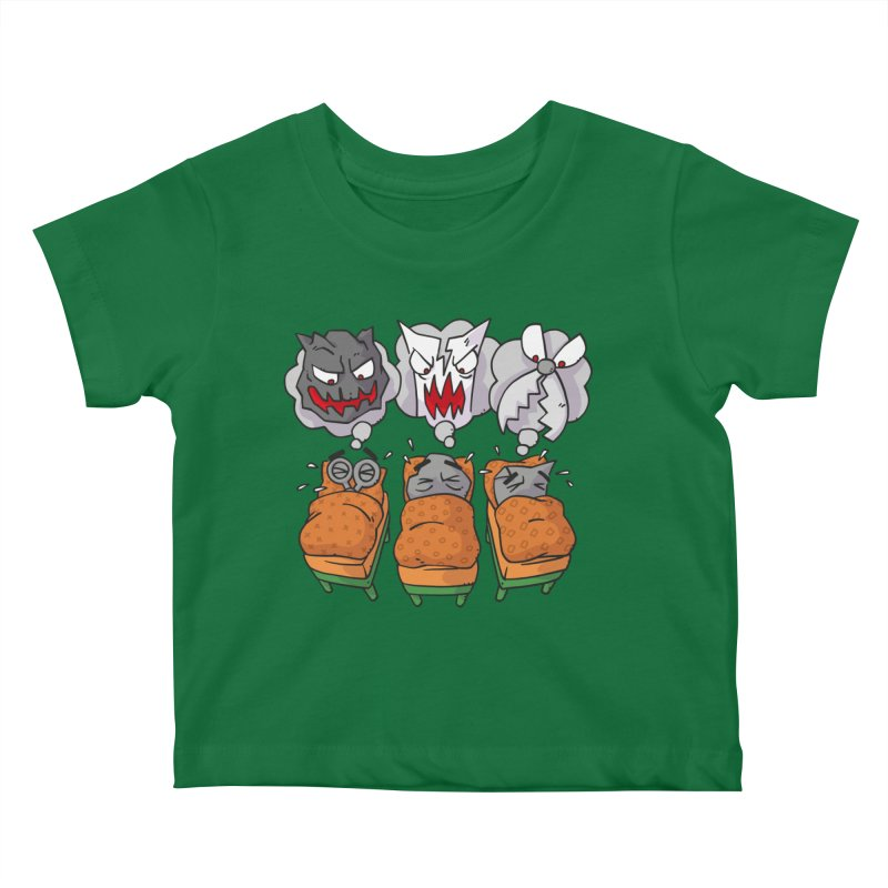 Scary Nights Kids Baby T-Shirt by Freehand