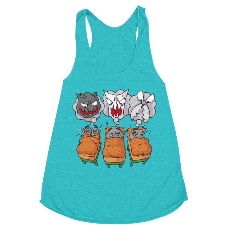 Scary Nights Women's Racerback Triblend Tank by Freehand