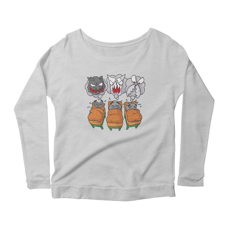 Scary Nights Women's Scoop Neck Longsleeve T-Shirt by Freehand