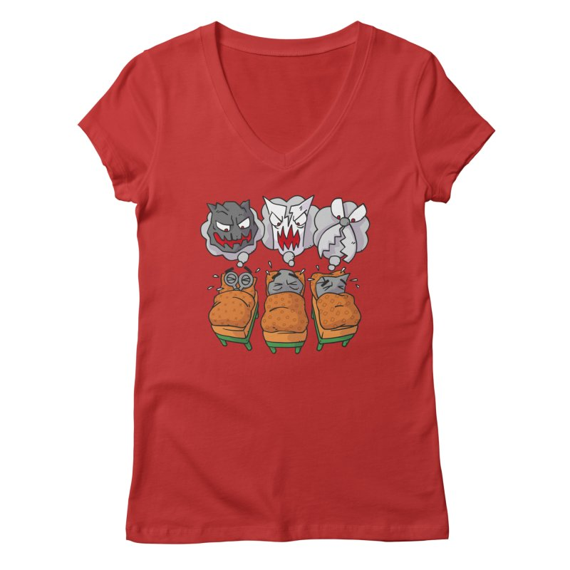 Scary Nights Women's Regular V-Neck by Freehand