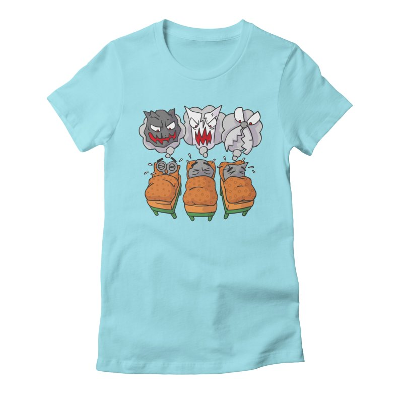 Scary Nights Women's Fitted T-Shirt by Freehand