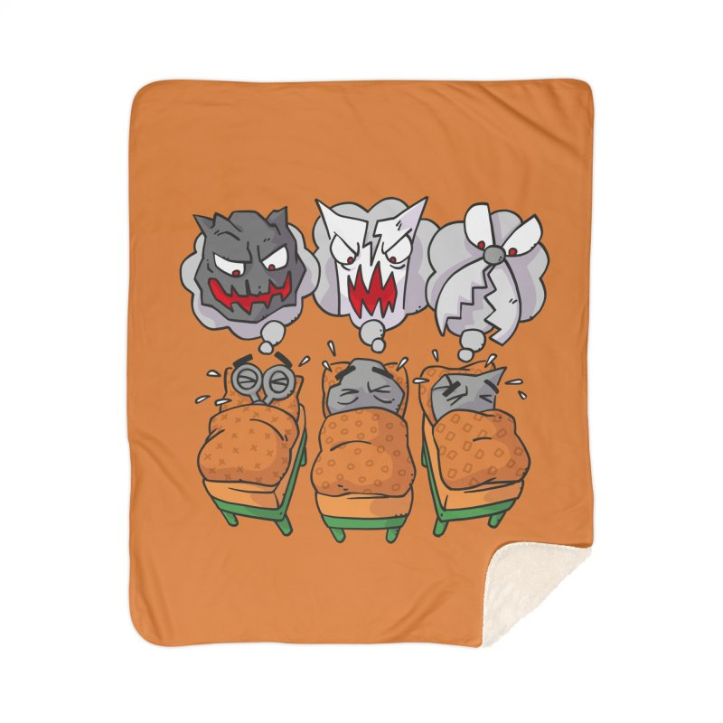 Scary Nights Home Sherpa Blanket Blanket by Freehand