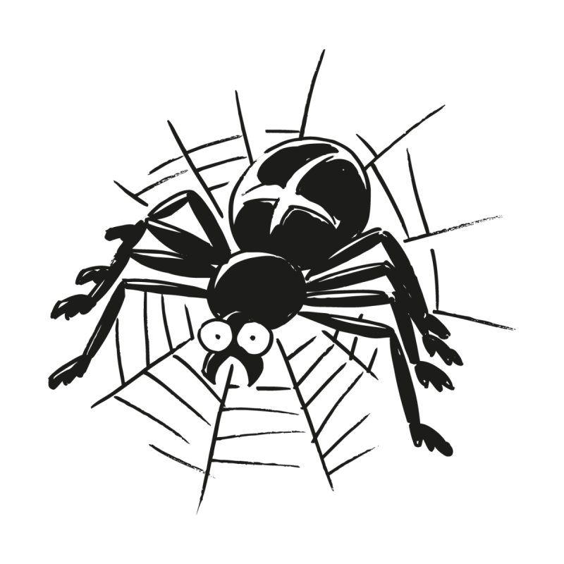 Spider Home Throw Pillow by Freehand