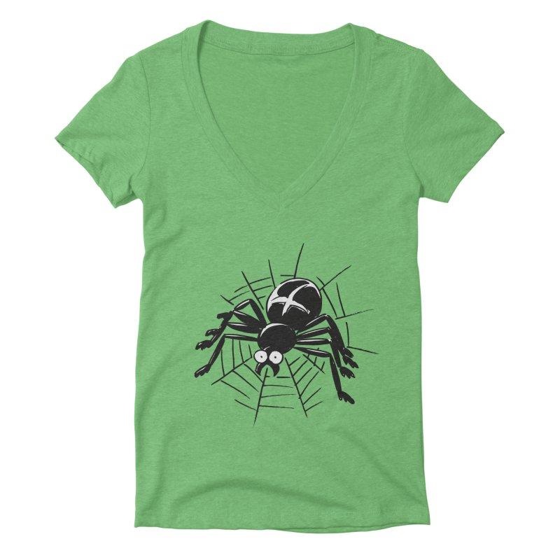 Spider Women's Deep V-Neck V-Neck by Freehand