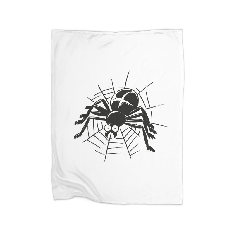 Spider Home Fleece Blanket Blanket by Freehand