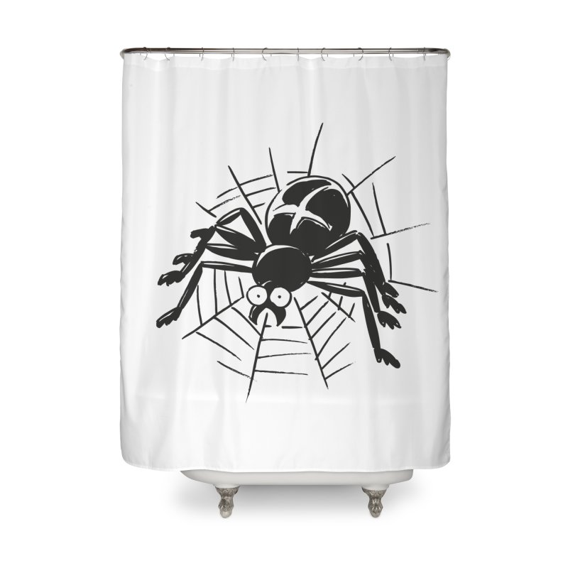 Spider Home Shower Curtain by Freehand