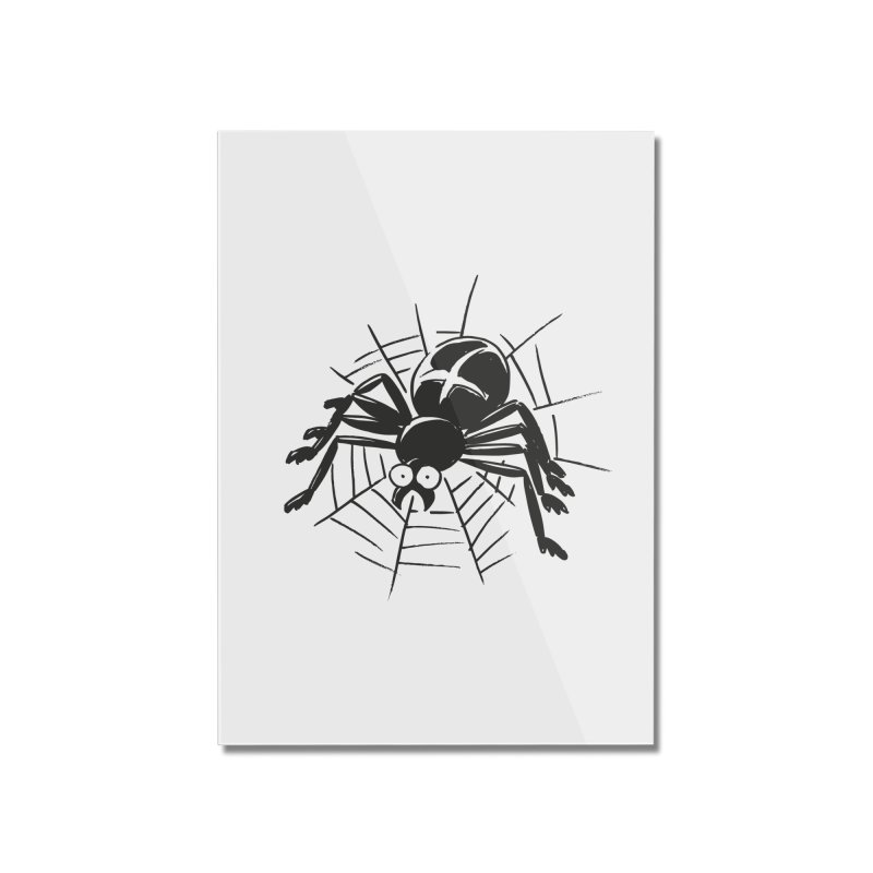 Spider Home Mounted Acrylic Print by Freehand