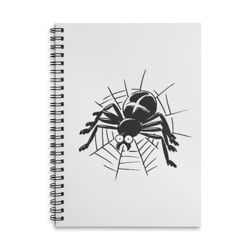 Spider Accessories Lined Spiral Notebook by Freehand
