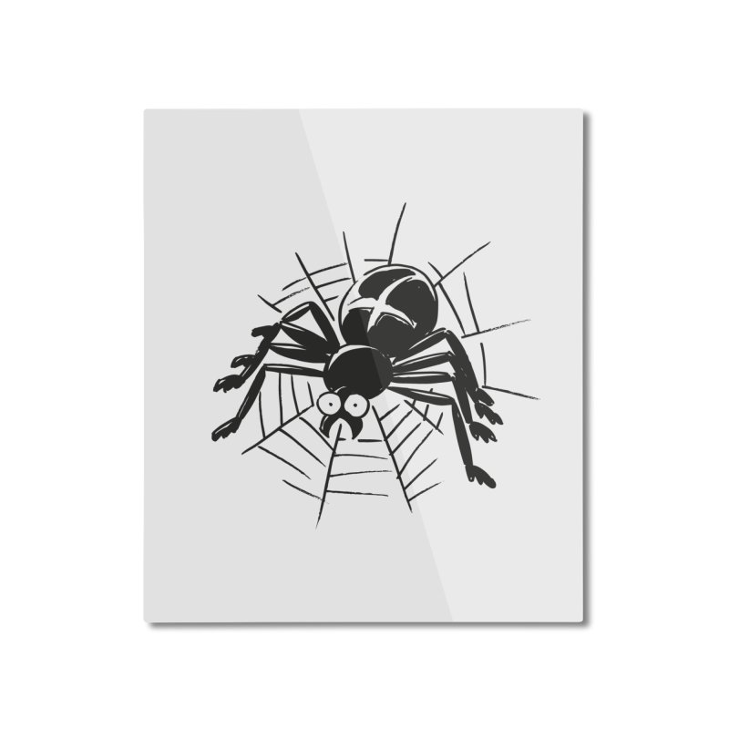 Spider Home Mounted Aluminum Print by Freehand