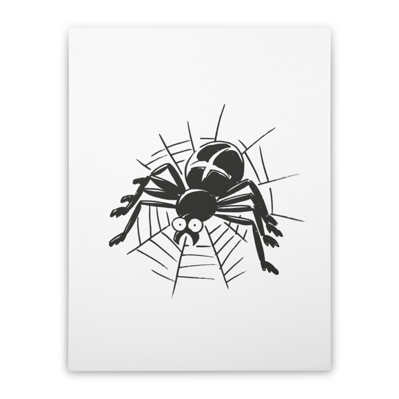 Spider Home Stretched Canvas by Freehand