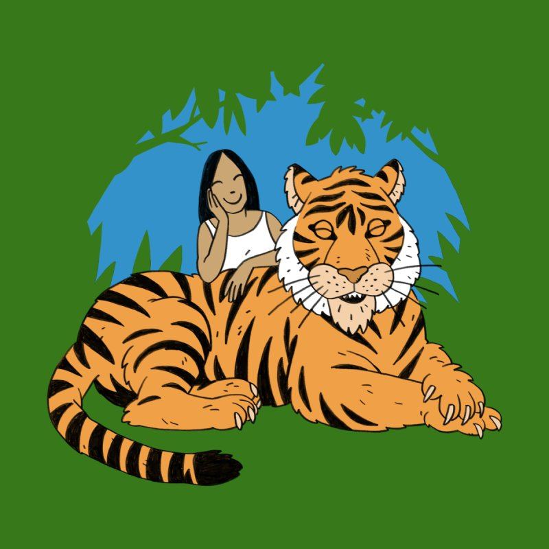 Pet Tiger Men's T-Shirt by Freehand