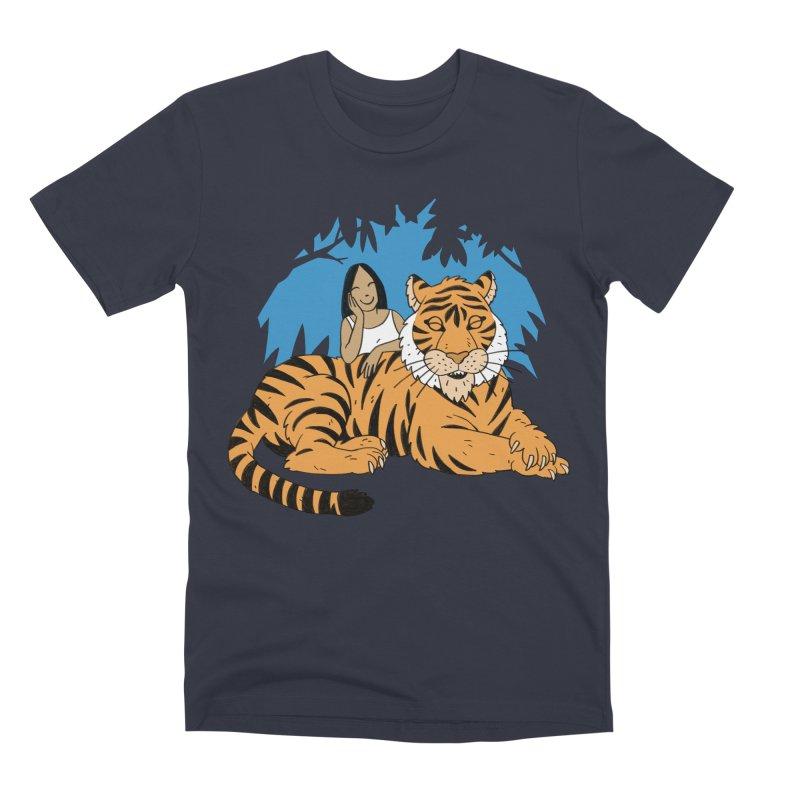 Pet Tiger Men's Premium T-Shirt by Freehand